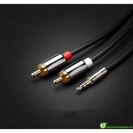 Cáp Audio 3,5mm ra 2 đầu RCA dài 1,5m Ugreen chính hãng 10583