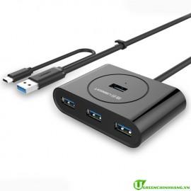 Hub 4 cổng USB 3.0 Ugreen 20292  hỗ trợ OTG cao cấp