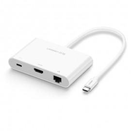 USB-C to HDMI + Hub USB 2.0 & 3.0 hỗ trợ Lan 10/100Mbps Ugreen 30440