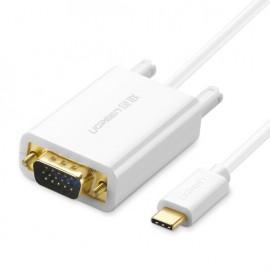 Cáp chuyển đổi USB type C sang VGA Ugreen 30842 (White)