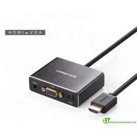 Cáp chuyển đổi HDMI to VGA + Audio và 1 cổng quang SPDIF Ugreen 40282