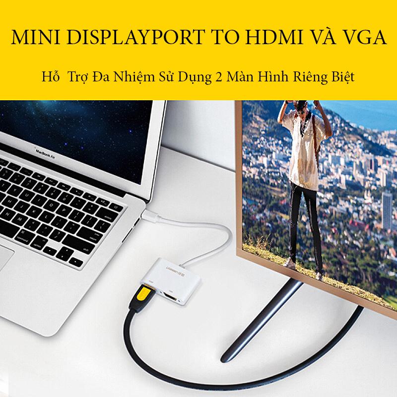 cap-chuyen-mini-displayport-sang-hdmi-va-vga-cao-cap-ugreen-40364