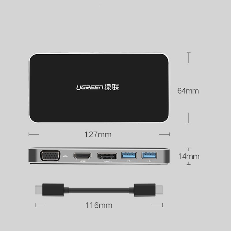 bo-chuyen-usb-type-c-to-hdmi-displayport-vga-usb-3-1-cao-cap-ugreen-40872
